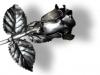 Rózsa antik ezüst hatásu