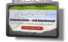 Webáruház bérlés, webáruház készítés